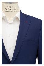 Samuelsohn - Sam Travel Navy Blue Textured Wool Sportcoat