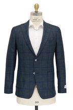 Samuelsohn - Michael2 Green & Blue Plaid Wool & Silk Sportcoat