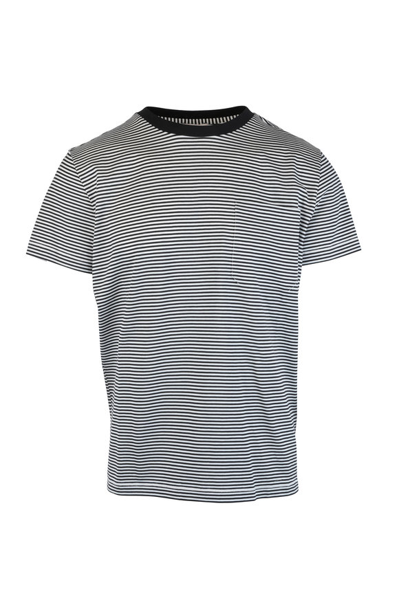 Moncler Maglia Black & White Striped T-Shirt