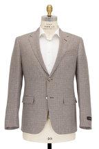 Ermenegildo Zegna - Brown Houndstooth Linen Blend Sportcoat