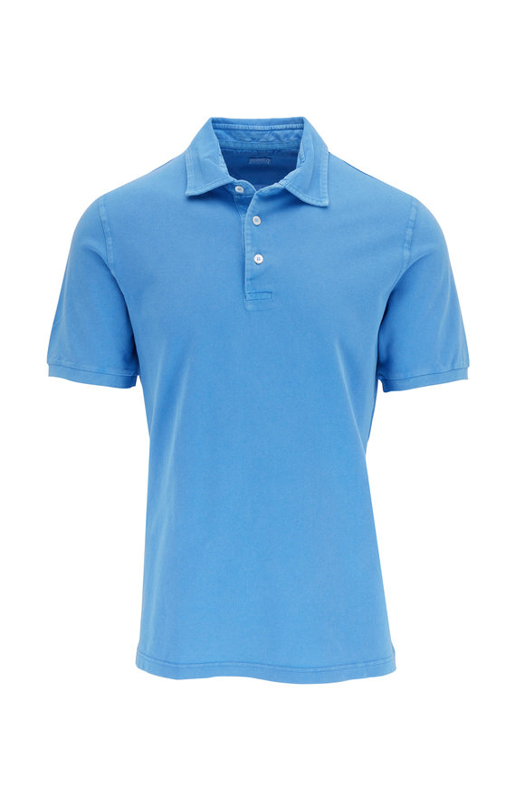 Fedeli Royal Blue Pique Polo