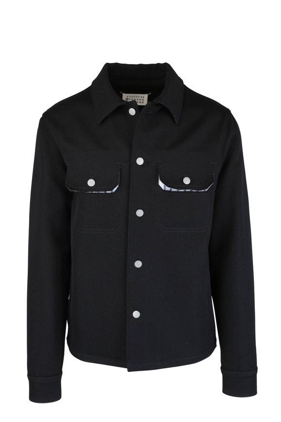 Maison Margiela Black Wool Blend Shirt Jacket