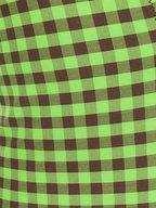 Fendi - Pine Plaid & FF Logo V-Neck Bathing Suit