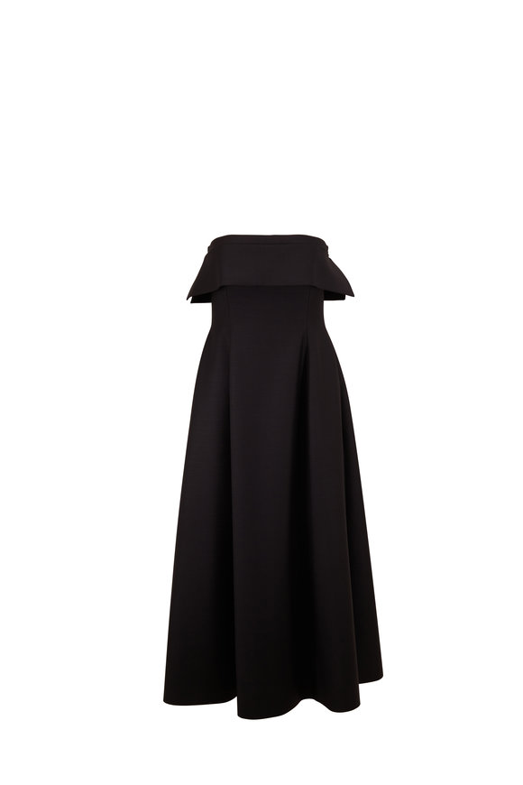 The Row Dario Black Strapless Cocktail Dress