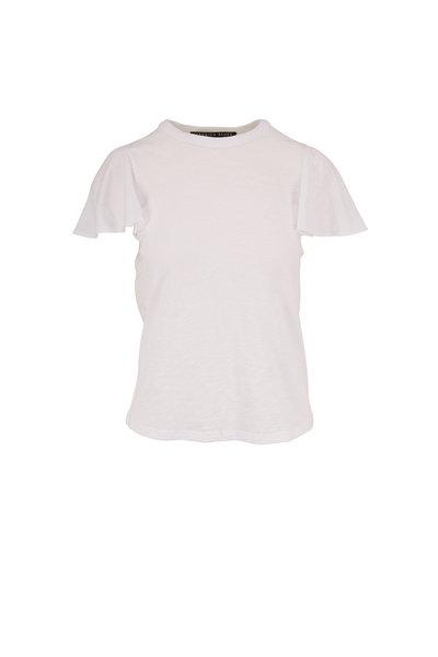 Veronica Beard - Zuma White Ruffle Sleeve T-Shirt