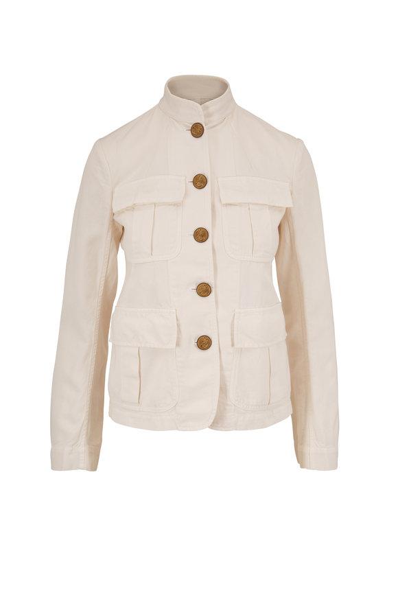 Nili Lotan White Sand Cambre Four Pocket Jacket