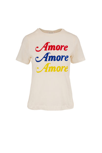 Chinti & Parker - Off White Cotton Amore Graphic T-Shirt