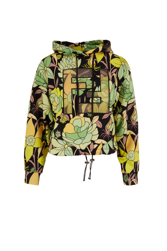 Fendi Dream Garden FF Embroidery Hooded Sweatshirt