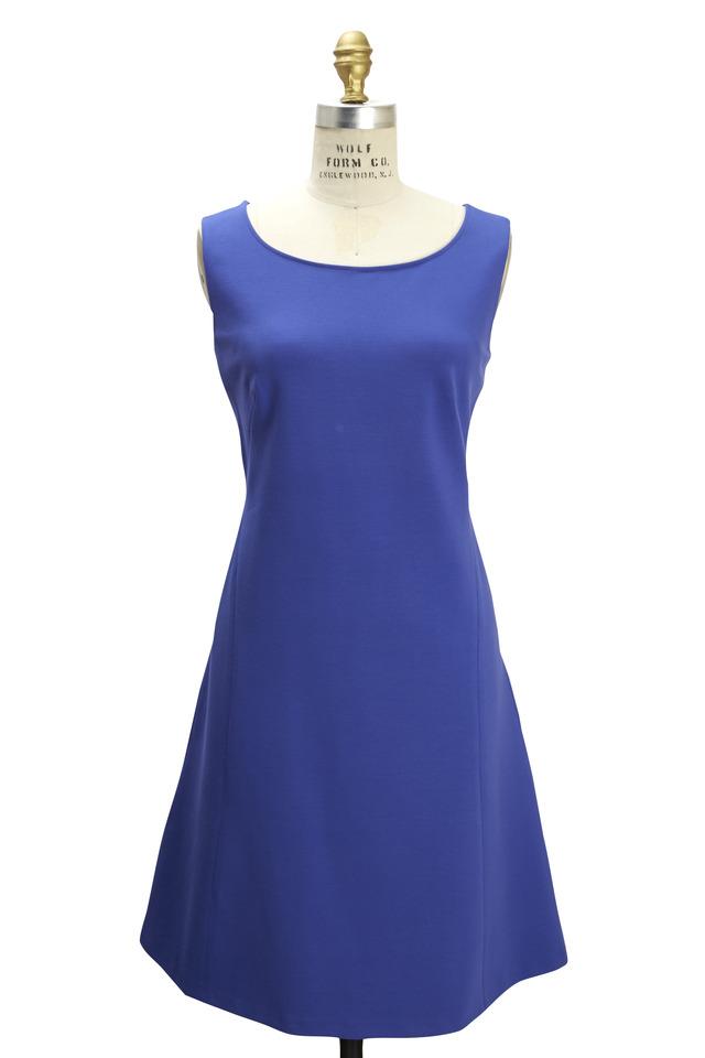 Blue Sleeveless Jersey Dress