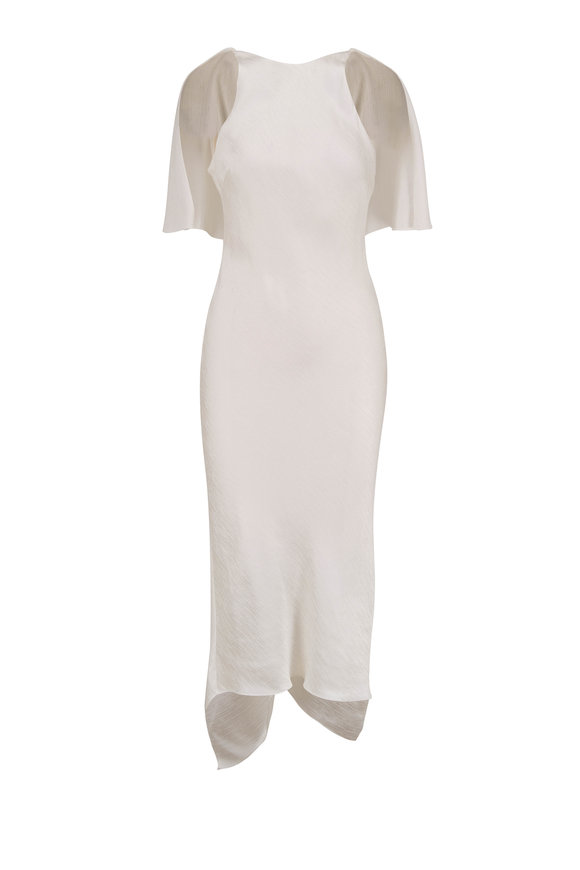Cushnie White Stretch Side Sleeveless Pencil Dress