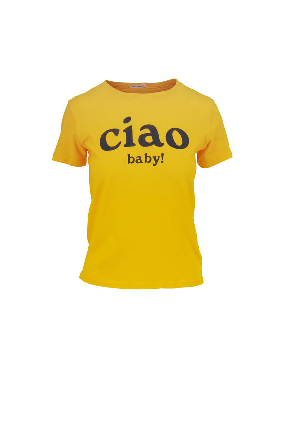 Mother Denim Lil Goodie Goodie Ciao Baby Graphic T-Shirt