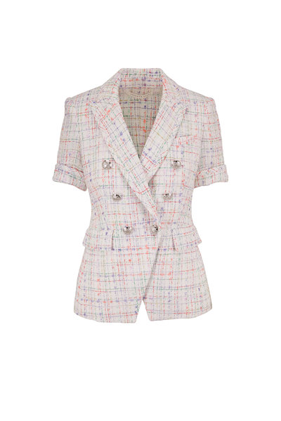 Veronica Beard - Jenny White Multi Short Sleeve Dickey Jacket