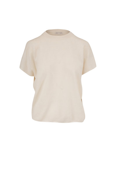 Vince - Off White Cashmere & Linen Sweater