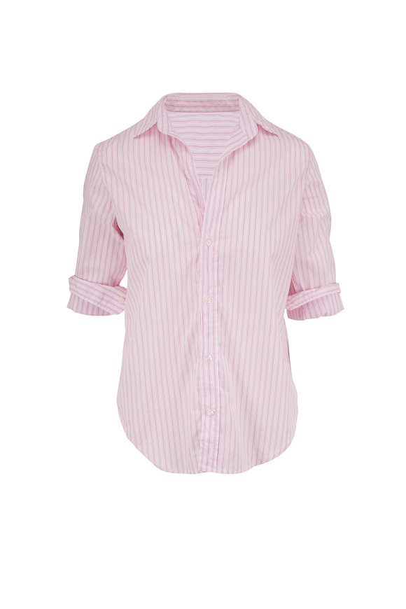 Frank & Eileen Frank Pink & White Stripe Button Down Shirt