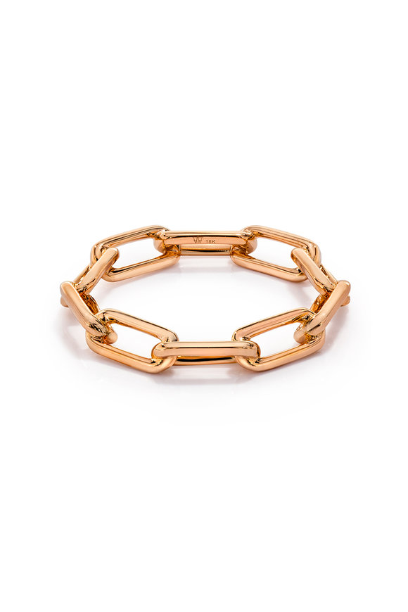 Walters Faith 18K Rose Gold Saxon Chain Link Ring
