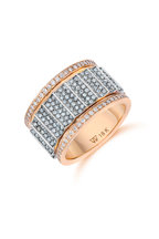 Walters Faith - 18K Rose & White Gold Clive 12mm Diamond Ring