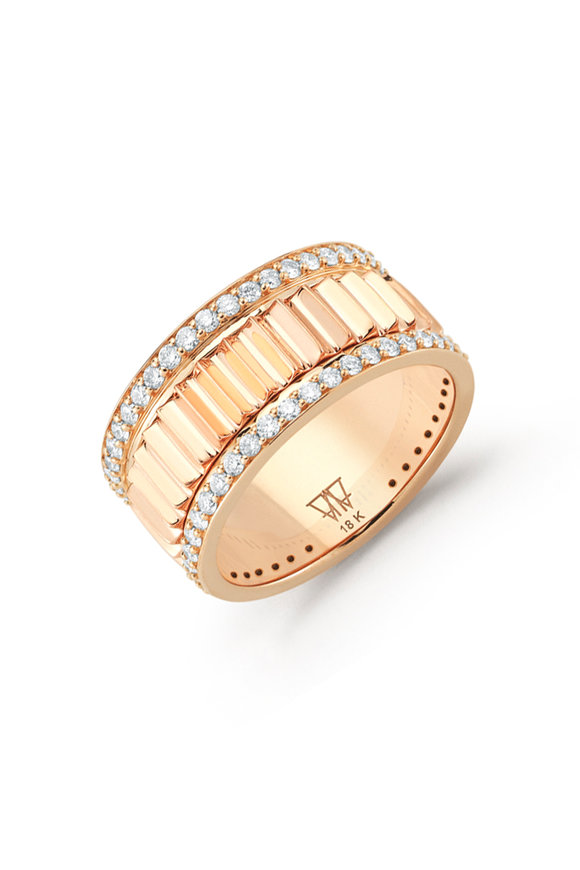 Walters Faith 18K Rose Gold Clive Diamond Ring