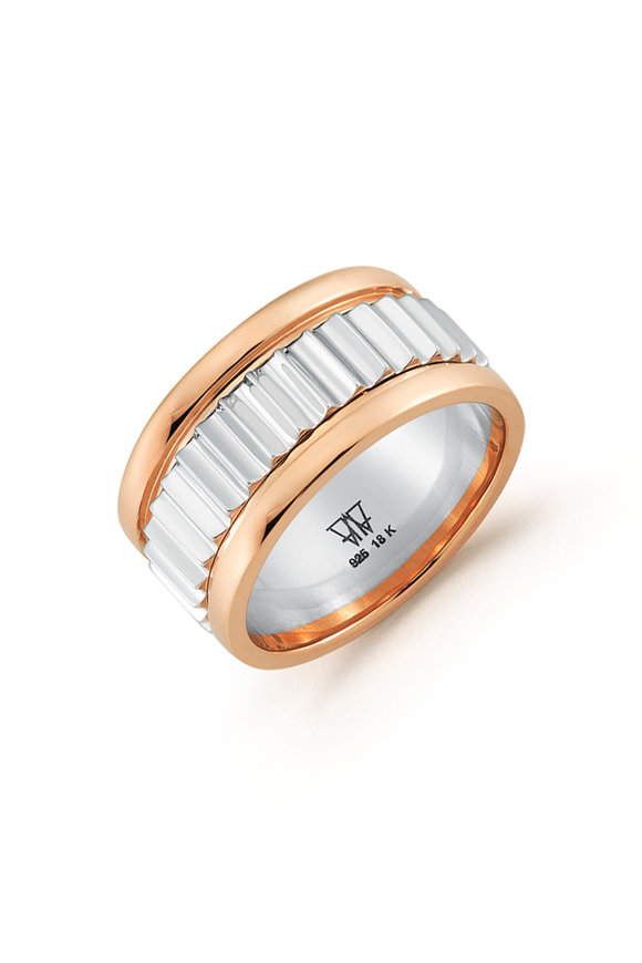 Walters Faith 18K Rose Gold & Sterling Silver Clive 10mm Ring