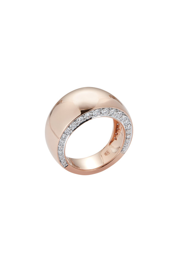 Walters Faith 18K Rose Gold Lytton Wide Diamond Ring
