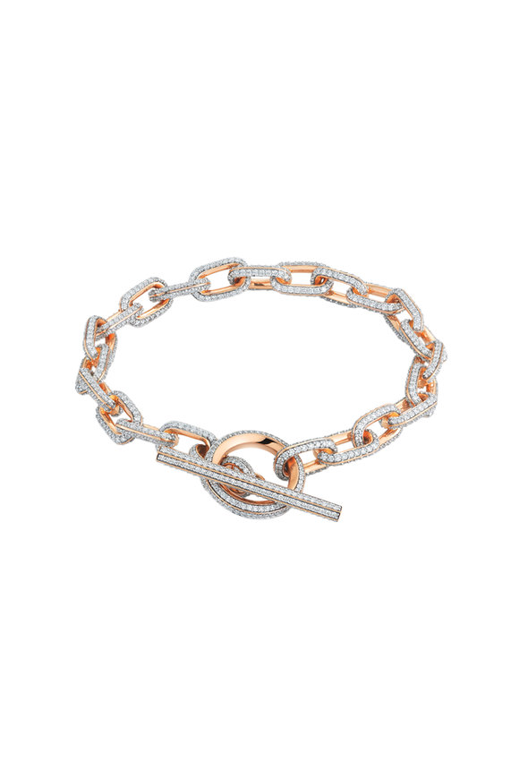 Walters Faith 18K Rose Gold Saxon Diamond  Chain Link Bracelet