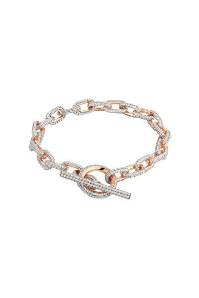 Walters Faith - 18K Rose Gold Saxon Diamond  Chain Link Bracelet
