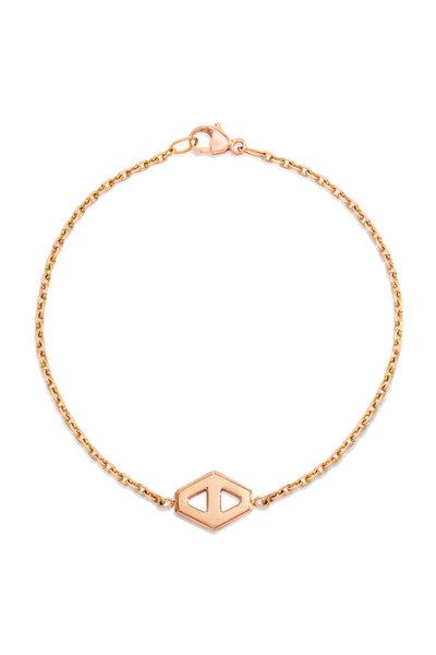 Walters Faith - 18K Rose Gold Keynes Hexagon Bracelet