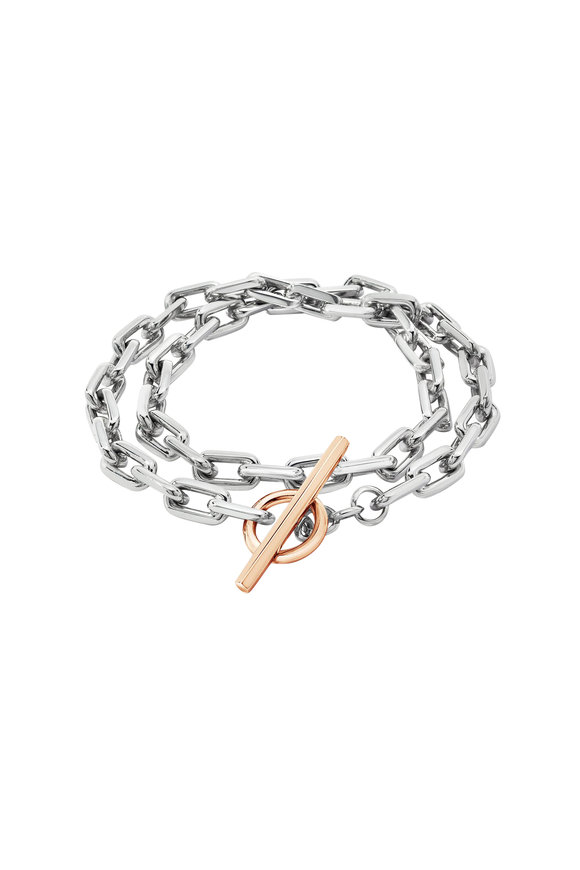 Walters Faith 18K Rose Gold & Silver Saxon Double Wrap Bracelet