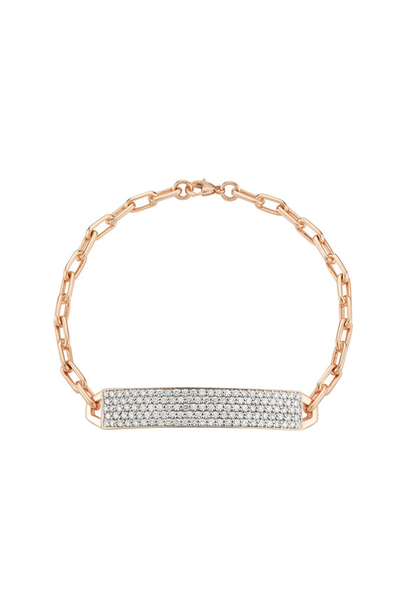 Walters Faith 18K Rose Gold Carrington Diamond ID Bracelet