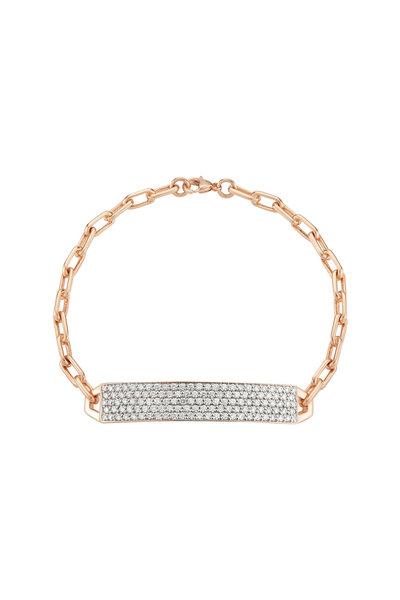 Walters Faith - 18K Rose Gold Carrington Diamond ID Bracelet