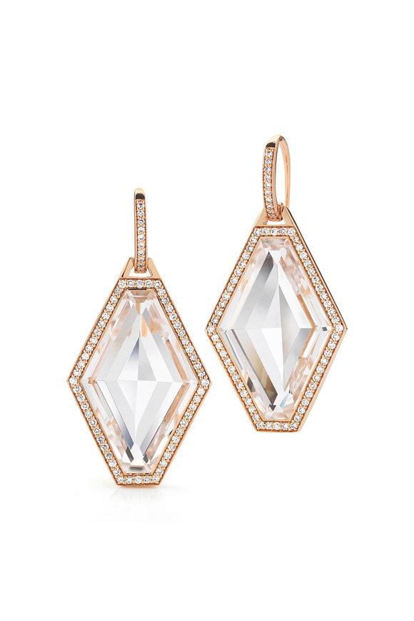 Walters Faith 18K Rose Gold Bell Diamond & Crystal Earrings