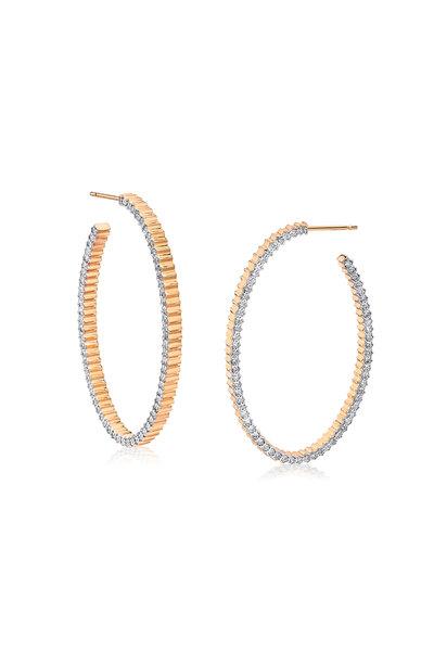 Walters Faith - 18K Rose Gold Clive Diamond Hoop Earrings