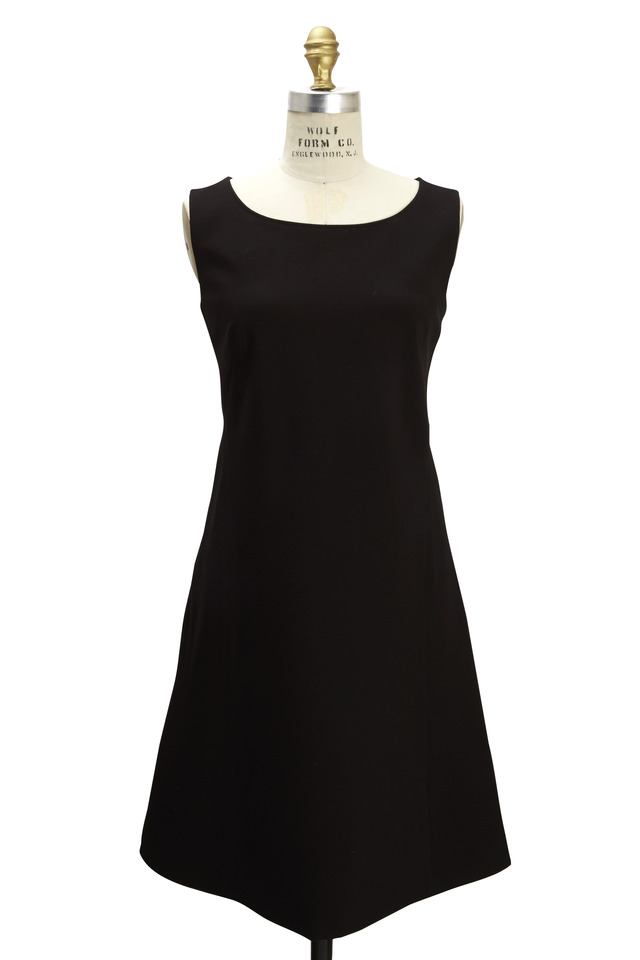 Black Sleeveless Jersey Dress
