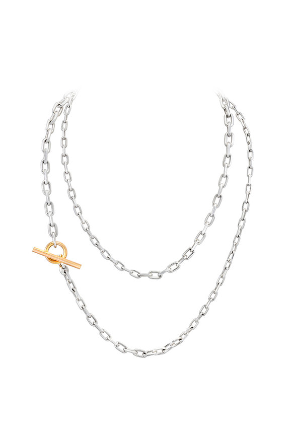 Walters Faith 18K Rose Gold & Silver Saxon Link Necklace
