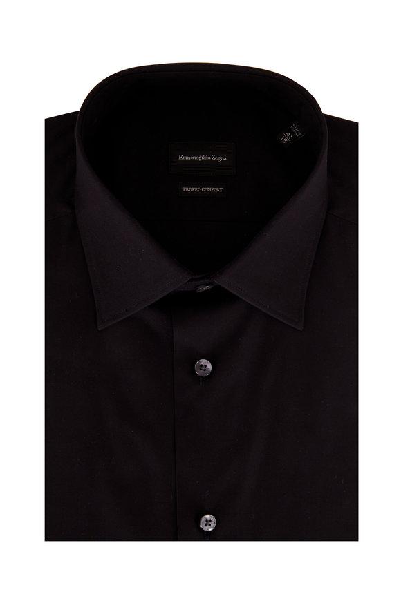 Ermenegildo Zegna Trofeo Comfort Black Dress Shirt