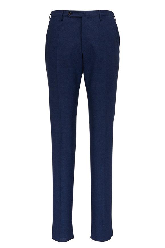 Incotex Matty Navy Blue Wool & Silk Modern Fit Pant