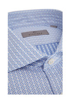 Canali - Light Blue Geometric Sport Shirt