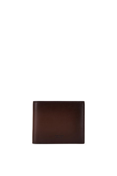 Tom Ford - Fango Burnished Leather Bi-Fold Wallet
