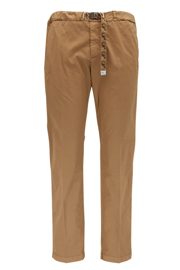 White Sands Rust Stretch Cotton Camo Belted Pant