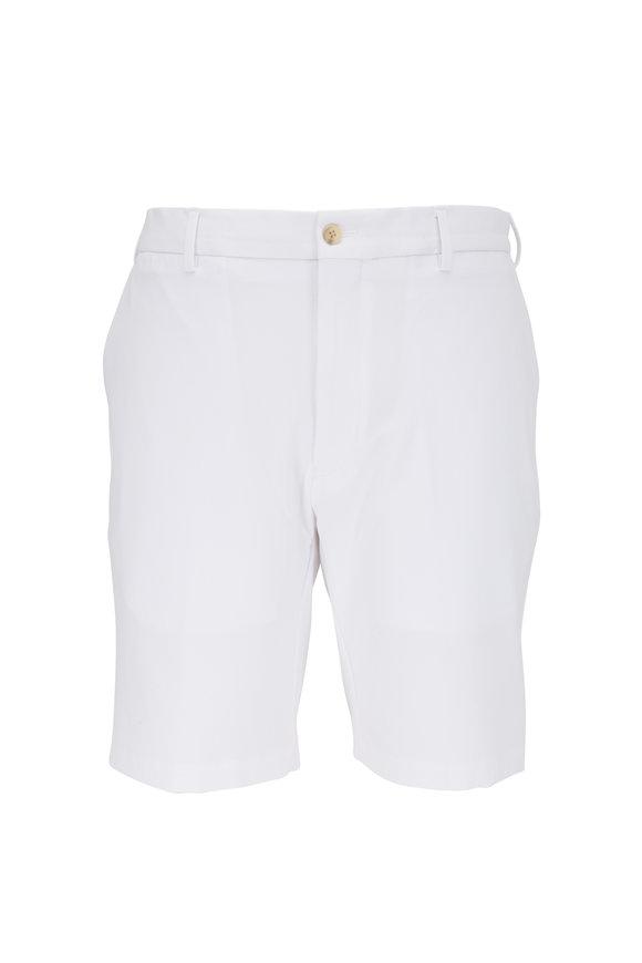 Peter Millar White Performance Twill Shorts