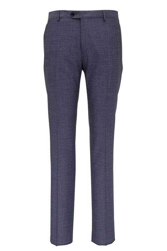 Maurizio Baldassari Basic Slate Wool Pant