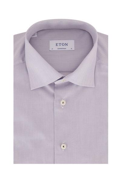 Eton - Gray Textured Contemporary Fit Dress Shirt
