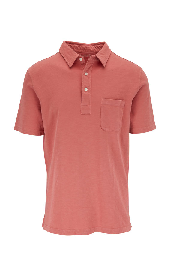 Faherty Brand Sunwashed Hermosa Red Polo