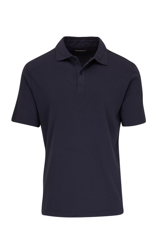 Faherty Brand Navy Blue Cotton Polo