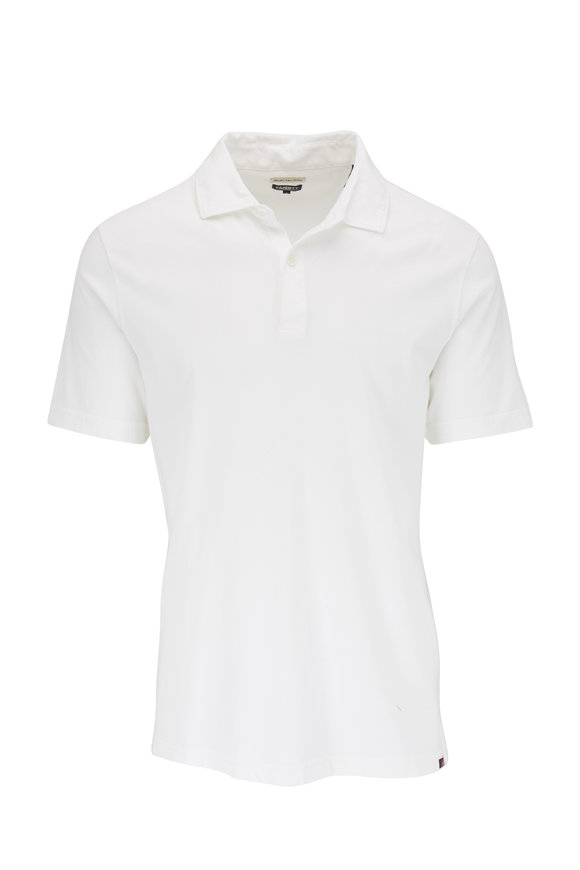 Faherty Brand Reserve White Organic Cotton Polo