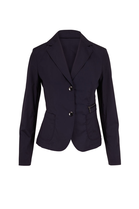 Bogner Ivana Navy Stretch Cotton Single Breasted Jacket
