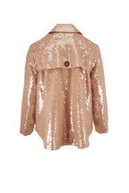 Veronica Beard - Darya Khaki Sequin Double-Breasted Jacket