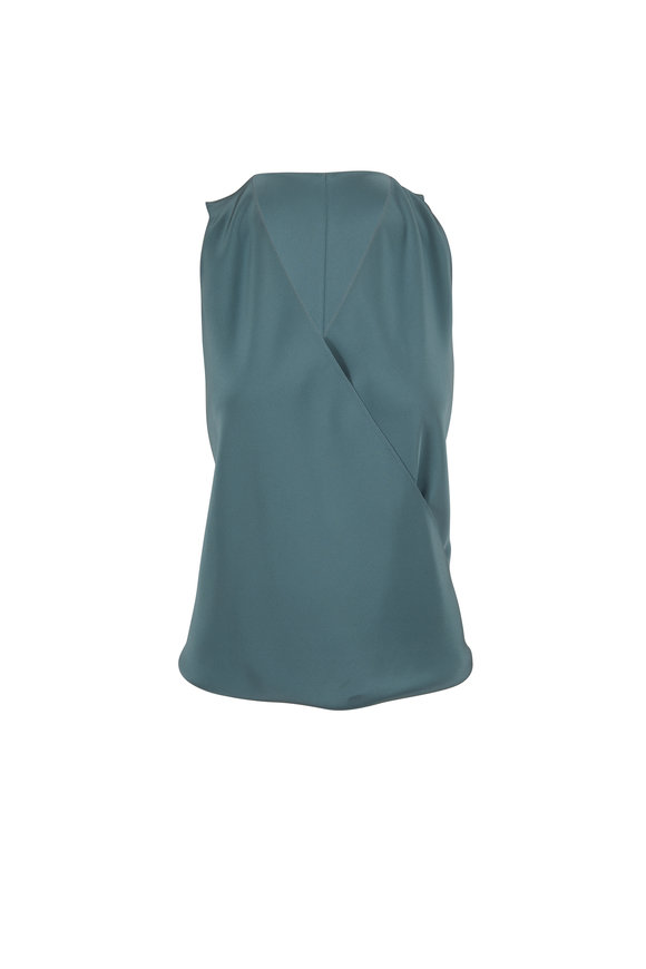 Peter Cohen Swathe Turquoise Silk Blouse