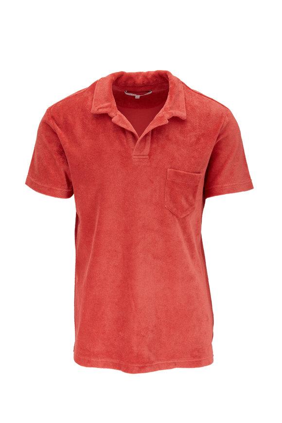 Orlebar Brown Blush Terry Cloth Pocket Polo
