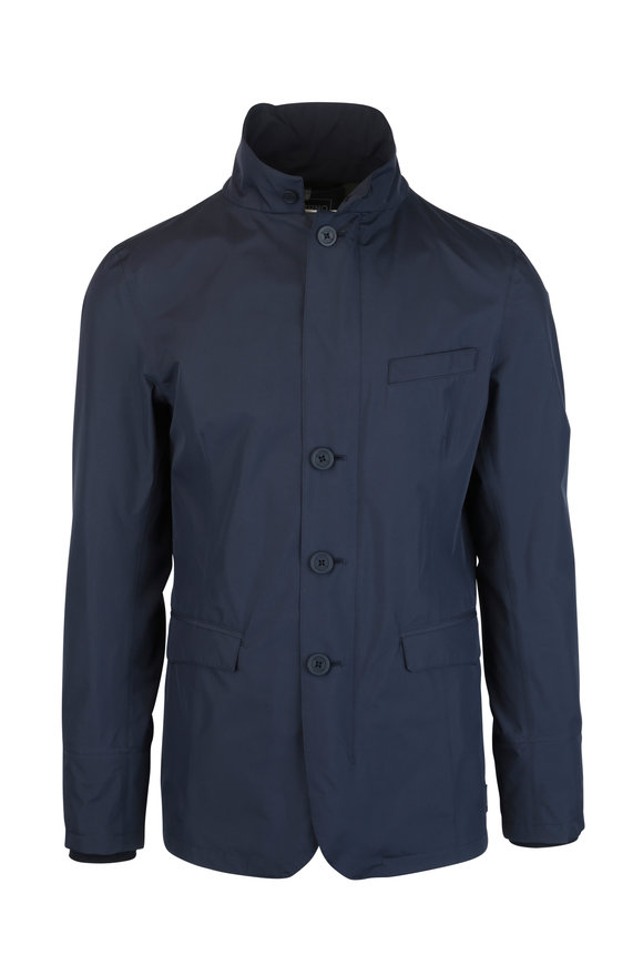 Herno Navy Blue Gortex Jacket