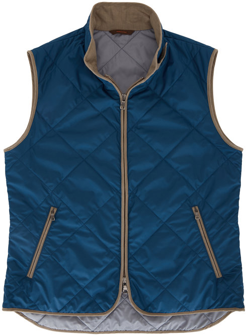Waterville Bright Navy Blue Quilted Vest